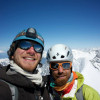 Mihnea Prundeanu si Alex Prigoana urca peretele nordic din Eiger